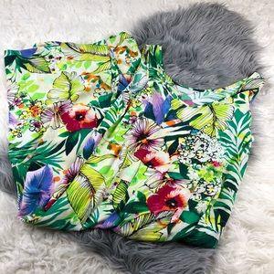 Jams world Dress sleeveless Jungle Splash Print S